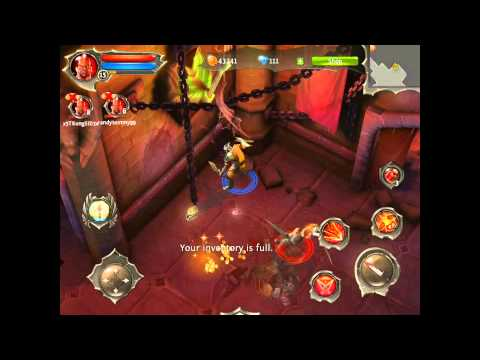 Dungeon Hunter 4 Multiplayer Co-Op Blademaster Fight Warmage Academy