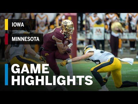 Highlights: Iowa Hawkeyes vs. Minnesota Golden Gophers | Big Ten Football
