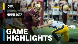 Highlights: Iowa Hawkeyes vs. Minnesota Golden Gophers | Big Ten Football