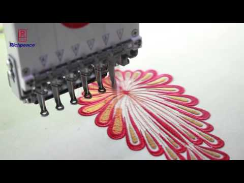 Richpeace 18 Heads Embroidery Machine for Net Fabric