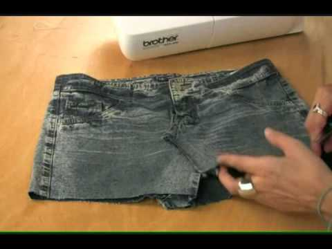A Miniskirt with Color & Style Made from Old Jeans