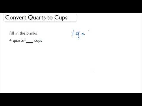 Convert Quarts to Cups