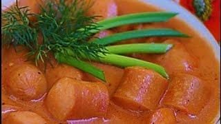 домашние видео-рецепты - сосиски с томатом в мультиварке