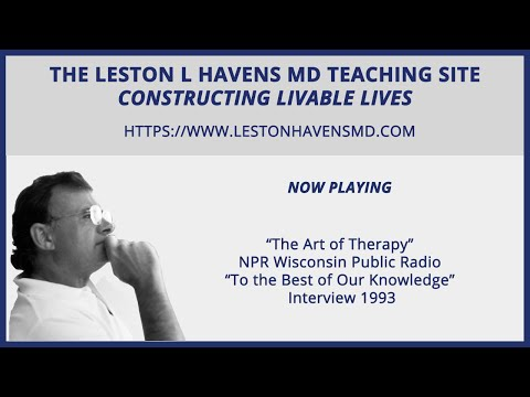 "60 ""The Art of Therapy"" NPR Wisconsin Public Radio ""To the Best of Our Knowledge"""