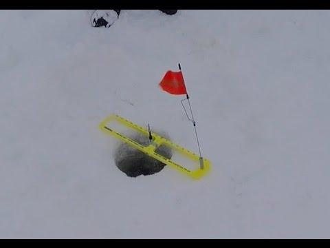 Ice Fishing Lake Gogebic Day 1 Tip-Ups Like Crazy!!!