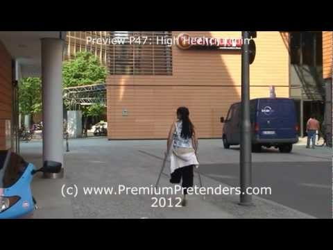 P47: High Heel Amputee Crutch Pretending - YouTube