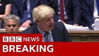 Boris Johnson calls on MPs to back October general election - BBC News