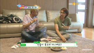Sandeul 산들 (B1A4 - Hello Baby Ep. 3) Cute and funny Moment eating! Lol