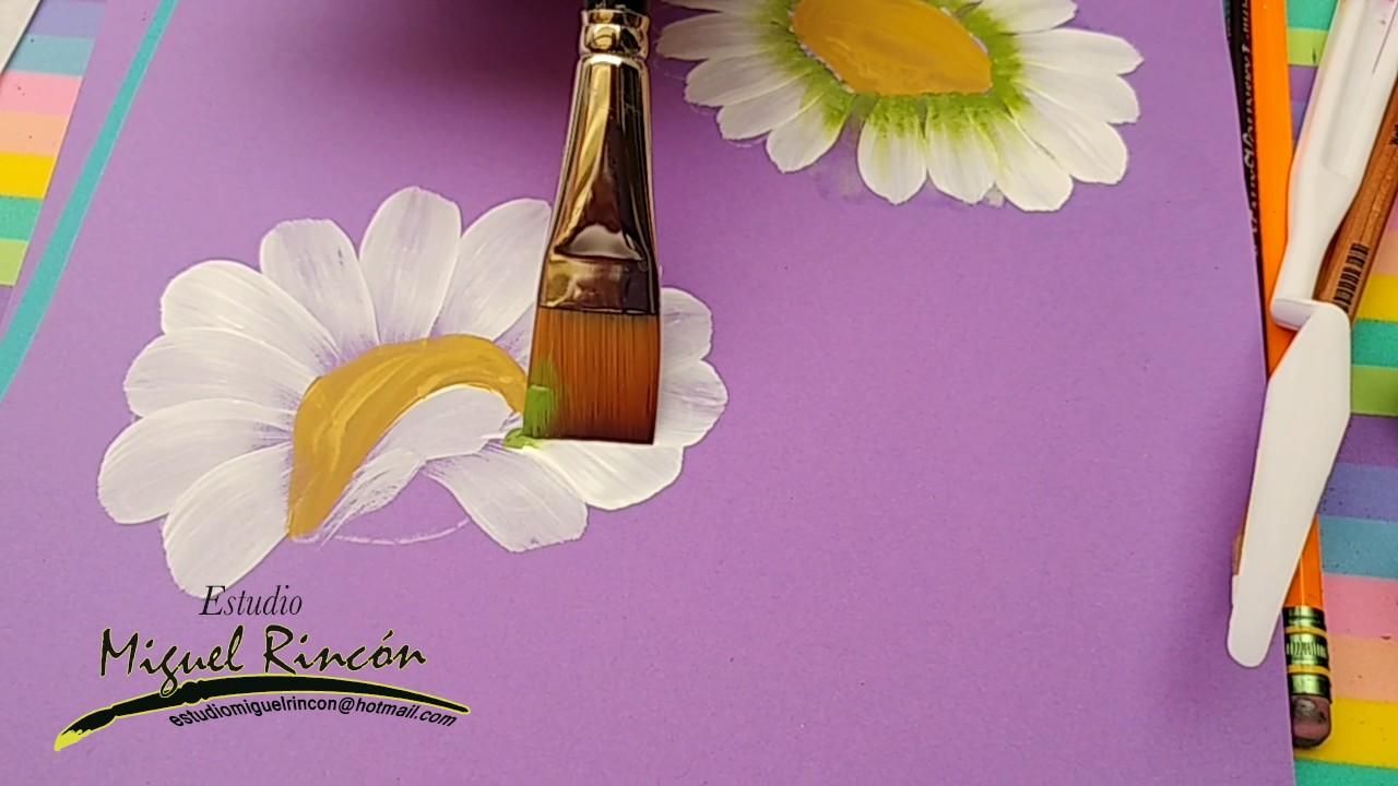 Margaritas Daisies En Pinceladas Con Miguel Rincón