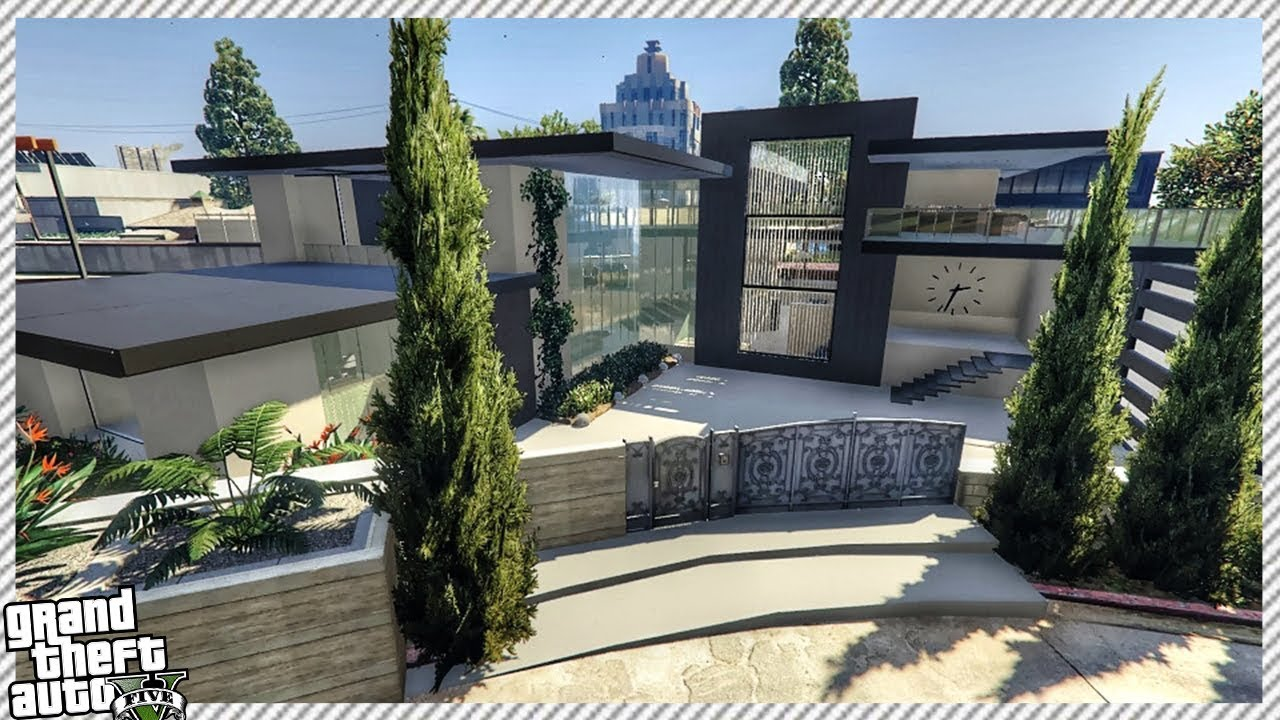 Brand New West Vinewood Modern House GTA 5 House Mod YouTube
