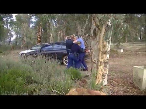 Police Fail Violence Illegal Arrest Taser Assault Helping Bank Steal Australian Farmer's Properties