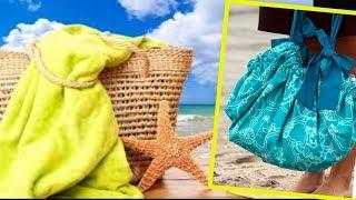 DIY BEACH BAG. How to Sew a Beach Bag