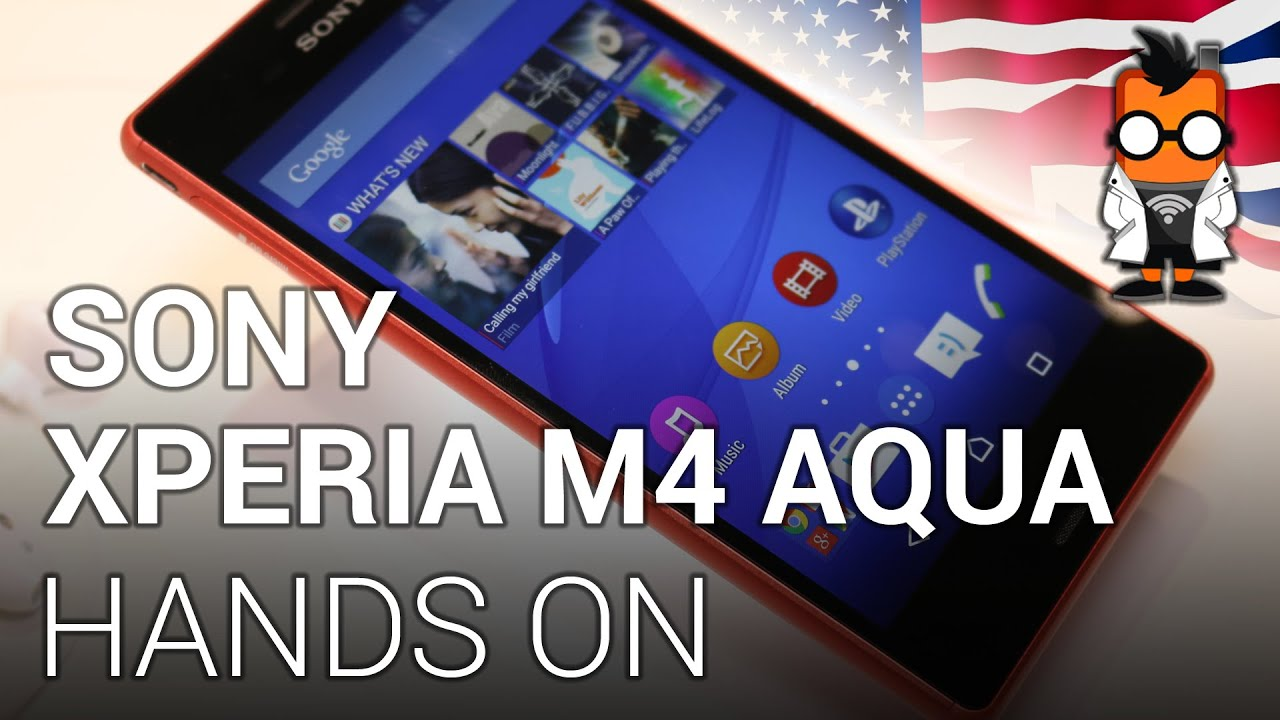 the best attitude b76a4 00589 Sony Xperia M4 Aqua - Waterproof mid-range Smartphone hands on at MWC 2015  [ENGLISH]