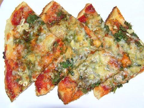 Пицца  быстрая  №171  Вегетарианская пицца, без  дрожжей