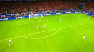 Galles - Belgio 3-1 Gool di Vokes Europei 2016