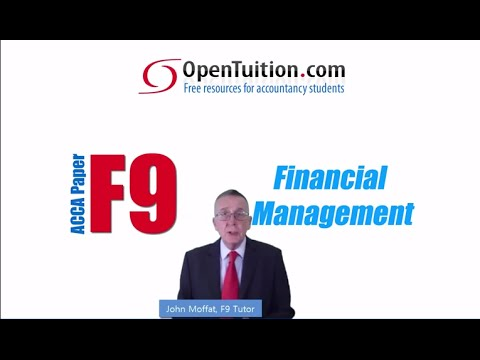 Introduction to ACCA F9 Financial Management