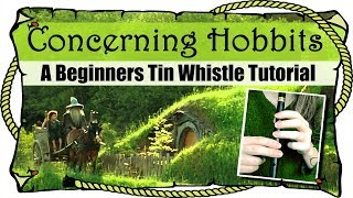 Lord Of The Rings  Concerning Hobbits  BEGINNERS TIN WHISTLE TUTORIAL