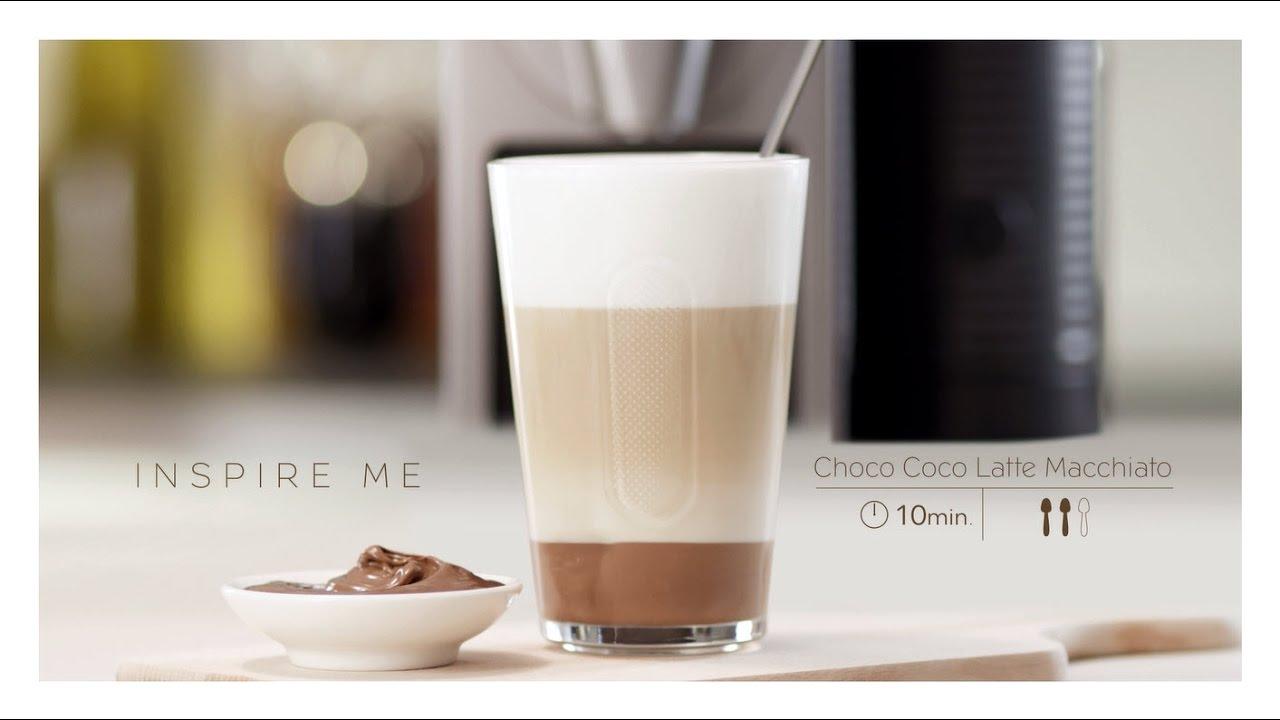 nespresso recipe choco coco latte macchiato youtube. Black Bedroom Furniture Sets. Home Design Ideas