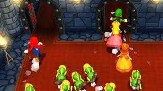 Mario Party 9 - Minigames - Mario vs Luigi, Peach and Daisy