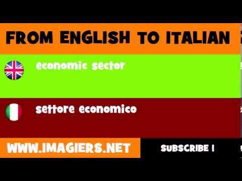 How to say economic sector in Italian