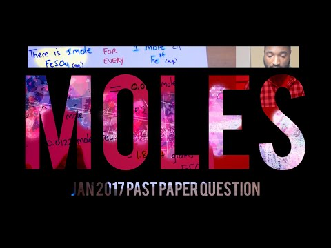 CSEC Chemistry - January 2017 Q1 ( A Taste Of MOLES!!!)