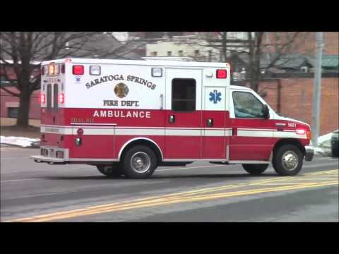 Saratoga Springs Fire Department Ambulance 5651 Responding (Watch in HD!)