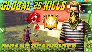 Download Mp3 Global 25 Kills || Rush Full Gameplay || Free Fire Battleground