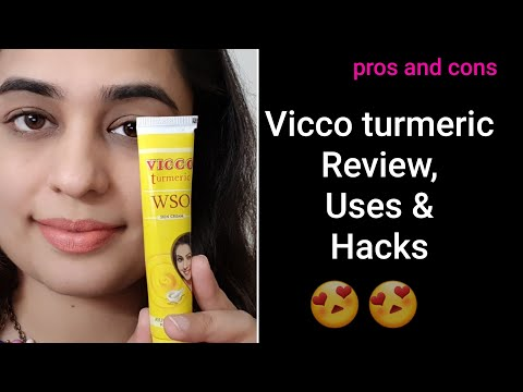 Vicco Turmeric WSO cream Review in Hindi/ Uses and Hacks of Vicco turmeric cream