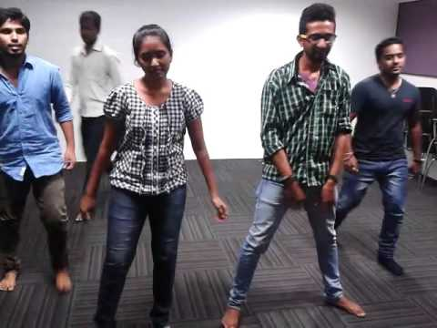Akkad Bakkad song in super movie nagarjuna and anushka with ma colleagues @ King Vaasu choreography