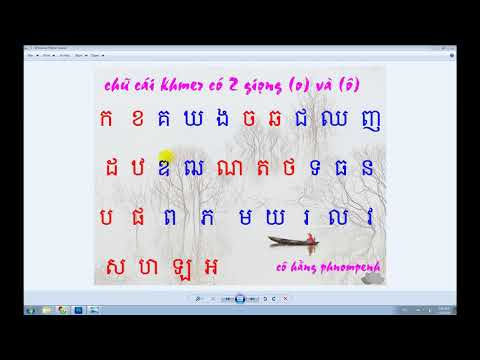 Học chữ Khmer 33 chữ cái