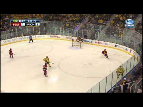 Dominic Hennig Radio Call | Ferris State Hockey at Michigan 3/2/13