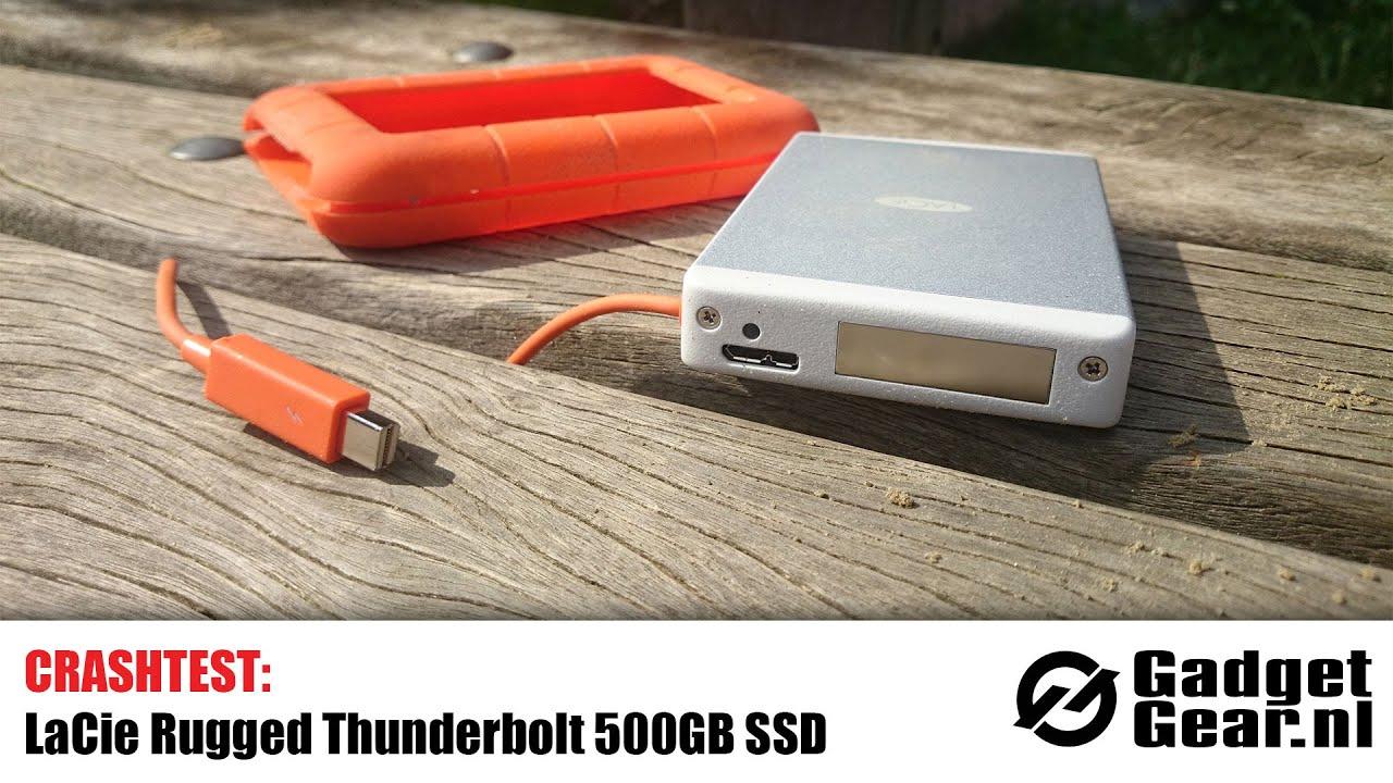 Crashtest: LaCie Rugged Thunderbolt 500GB SSD