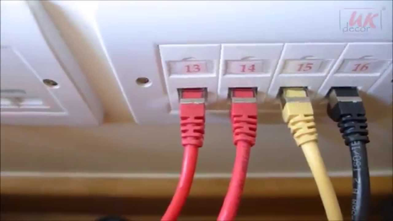 Home Network Wiring Panel Change Your Idea With Diagram Structured Cabinet Gigabit Custom Installation In A Flat By Uk Decor Rh Youtube Com Patch
