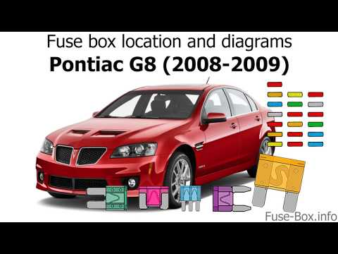 fuse box location and diagrams: pontiac g8 (2008-2009) - youtube  youtube