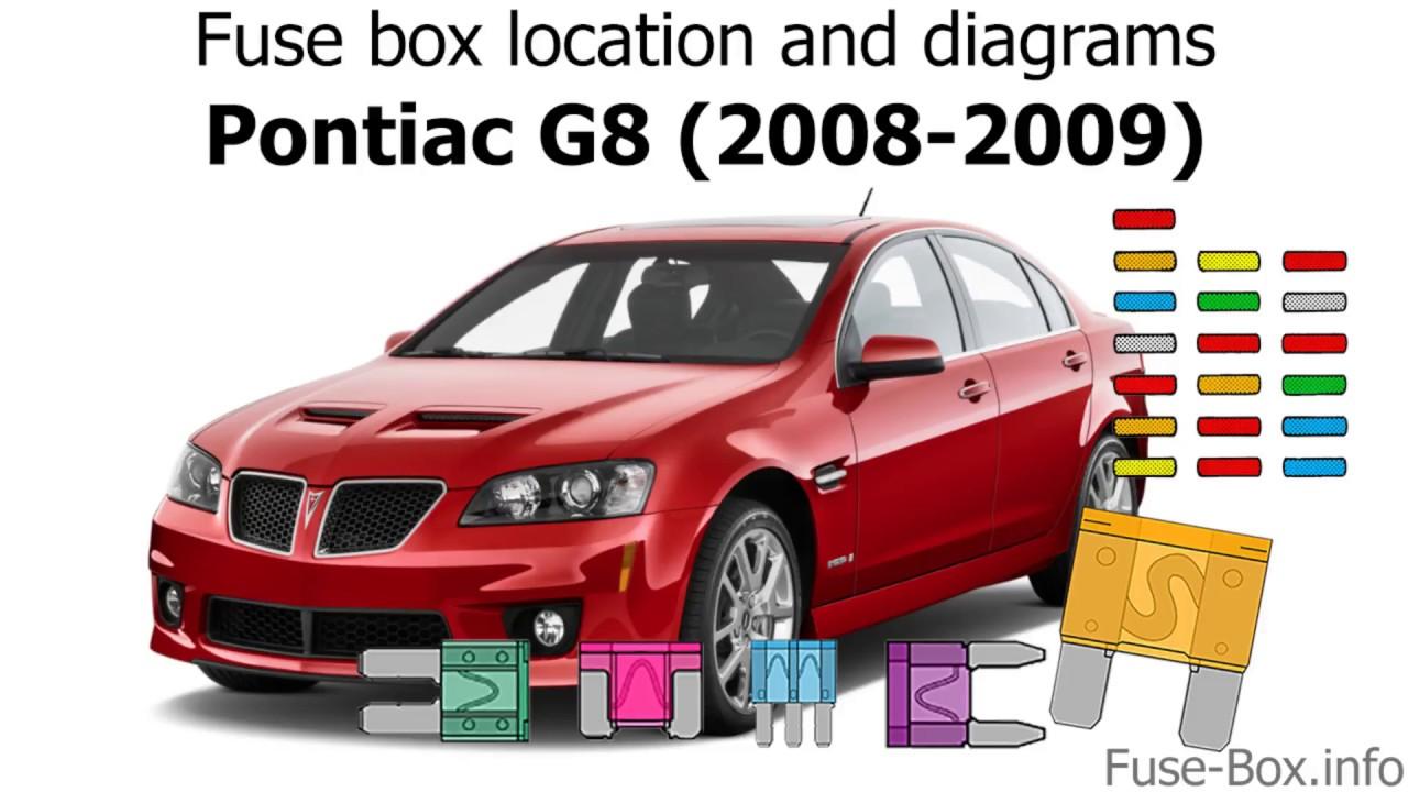 fuse box location and diagrams pontiac g8 2008 2009  [ 1280 x 720 Pixel ]