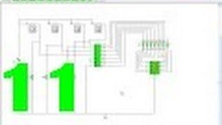 تجربة رقم [11] ثنائي إلى عشري باستخدام برنامج كروكودايل كليبس