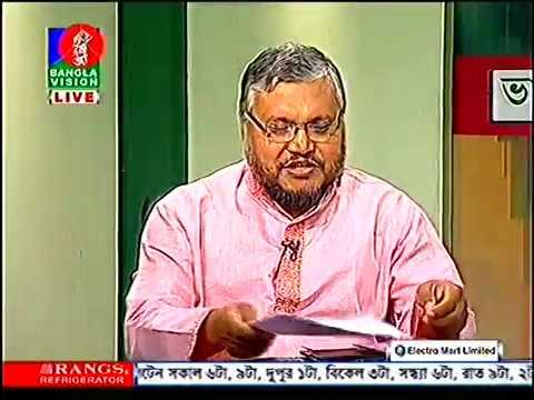 Habibullah Talukder Ruskin speaking on breast cancer awareness day on Banglavision 14 10 16