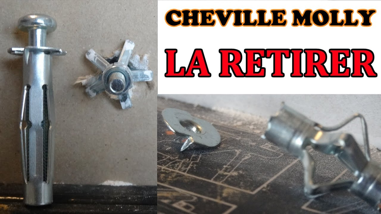 retirer une cheville molly proprement how to remove hollow wall anchors properly youtube. Black Bedroom Furniture Sets. Home Design Ideas