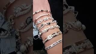 Ювелирные изделия из серебра с золотом  Обзор браслетов