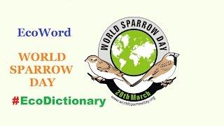 World Sparrow Day EcoDictionary