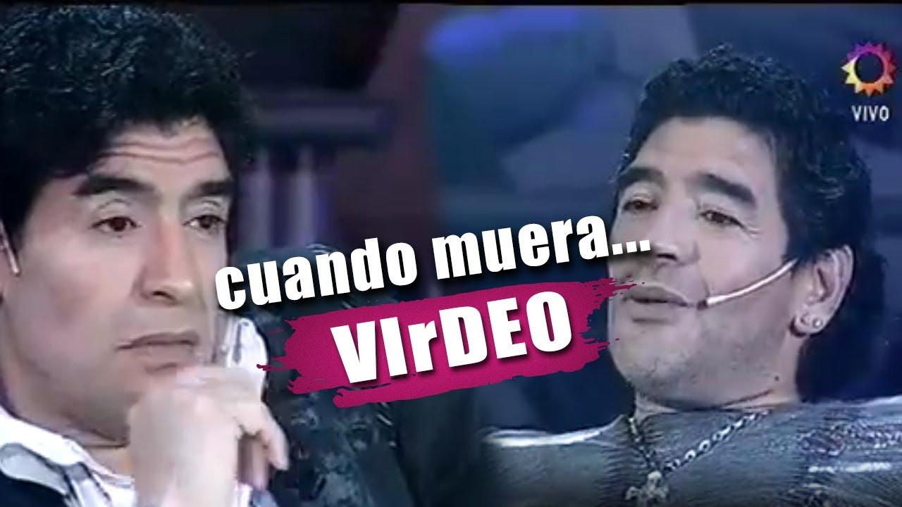 Maradona se pregunta a si mismo sobre su muerte