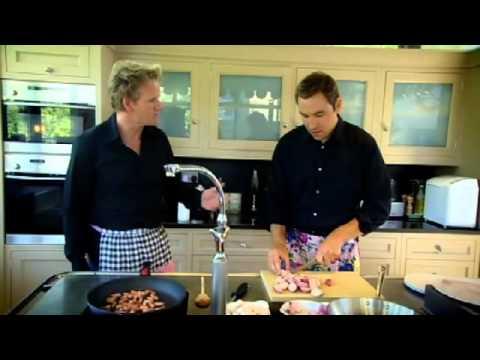 David Walliams and Ramsay Cook in Frilly Aprons - Gordon Ramsay