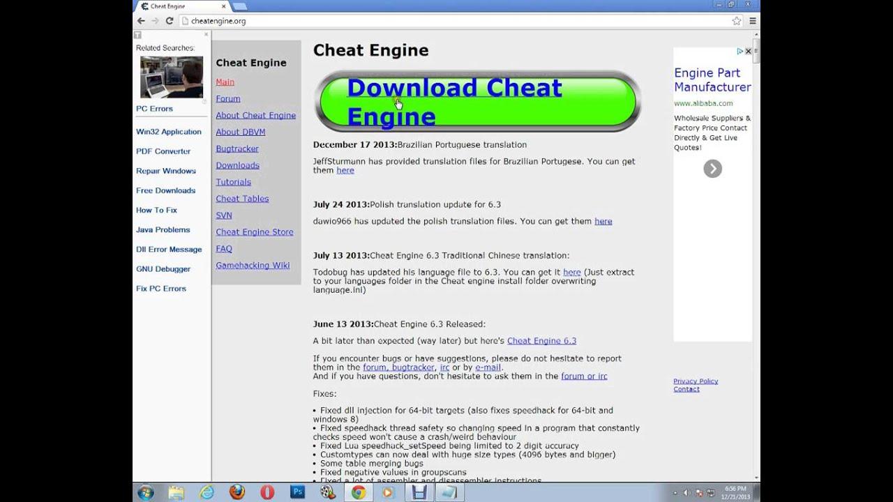 скачать cheat engine 6.3 на русском без вирусов