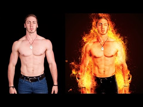 Photoshop Tutorial | Fire Portrait Manipulation | Photo Effects