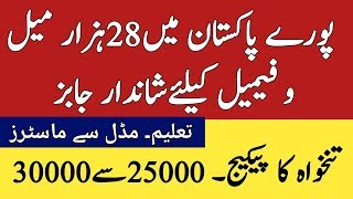 28 Thousand jobs in all Pakistan ll Jobs all Pakistan for Male and Females 2019 l New jobs 2019