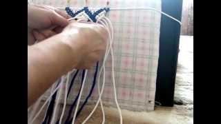 Узоры в макраме. Схема.ч.3(http://vipkashpo.com Узоры в макраме для сумочки. Видео уроки для начинающих. Схема плетения узора., 2013-04-09T14:58:12.000Z)
