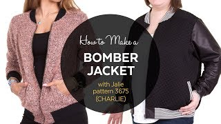 DIY  // How to Make a Bomber Jacket // Sewing Tutorial