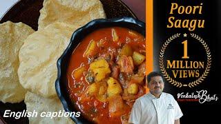 Venkatesh Bhat makes Poori  Saagu | how to make poori | Bombay Sagu | poori sidedish recipe in Tamil