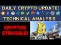 Cryptos Struggle To Move Higher! (1/21/18) Daily Update + Technical Analysis