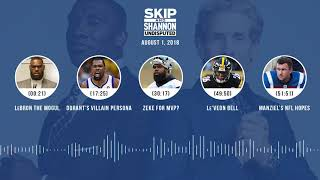 UNDISPUTED Audio Podcast (8.01.18) with Skip Bayless, Shannon Sharpe & Jenny Taft | UNDISPUTED